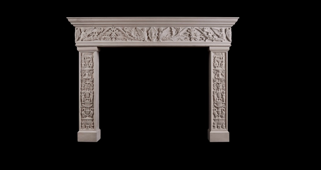 CARVED ITALIAN RENAISSANCE FIREPLACE