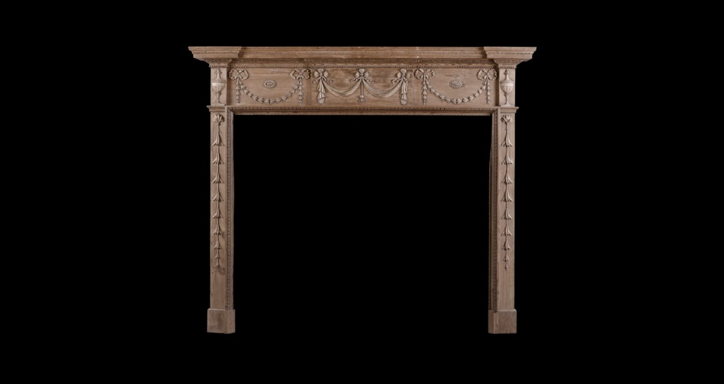 CARVED PINE FIREPLACE GEORGIAN STYLE