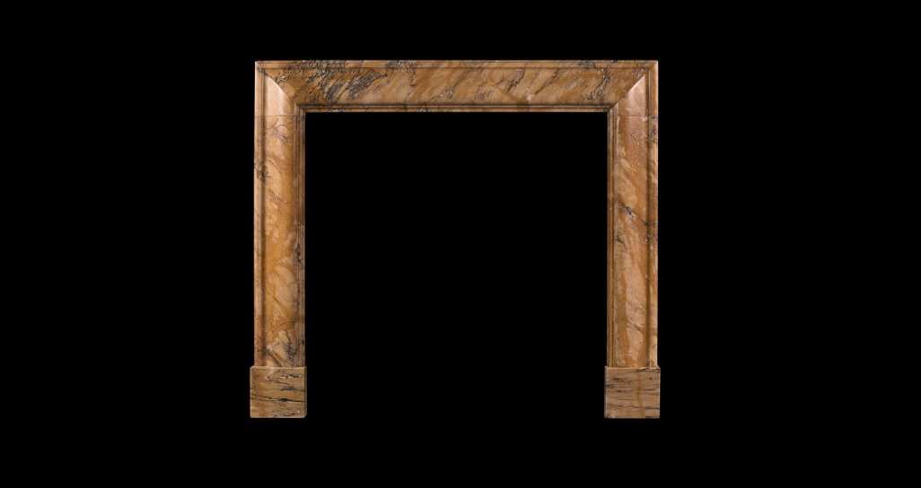 PETITE SIENA MARBLE BOLECTION FIREPLACE
